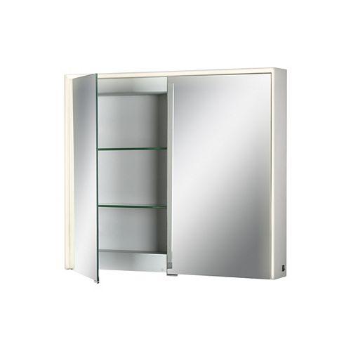 Armoire à miroir à DEL à bord illuminé, deux portes - 31485-012