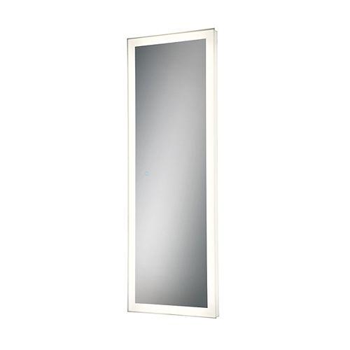 Miroir linéaire à DEL à bord illuminé, cadre argent - 31487-016