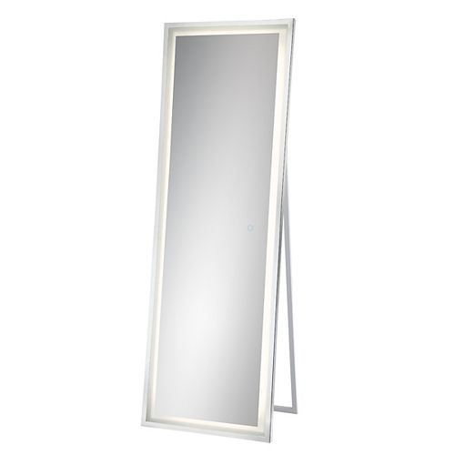 Eurofase Freestand Back-Lit LED Mirror, Chrome Frame - 31855-013