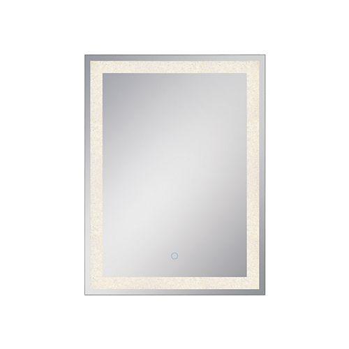 Miroir rectangulaire Eurofase en cristal rétroéclairé à DEL - 33824-017