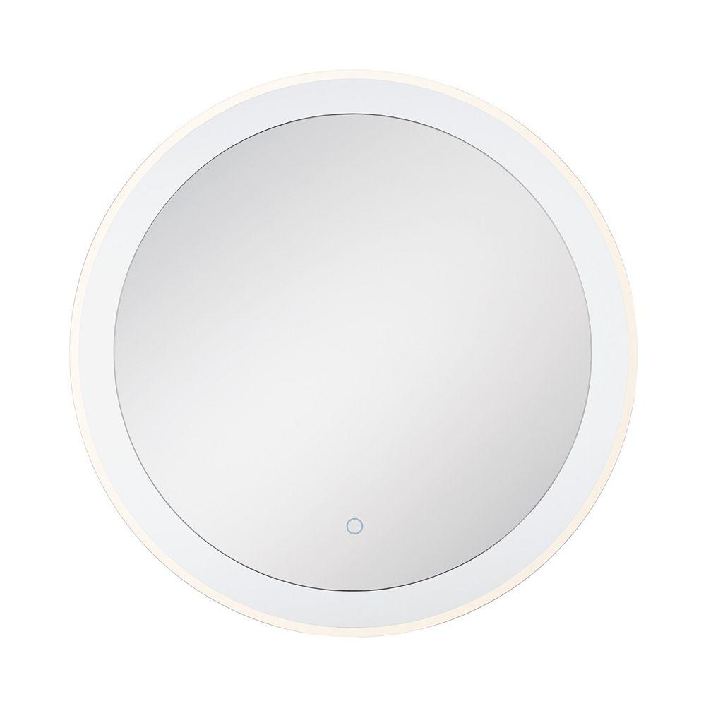 Eurofase Miroir rond Eurofase à bord illuminé à DEL transparent - 33825-014