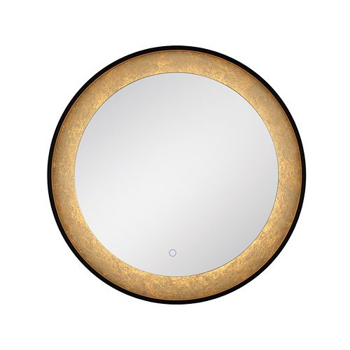 Eurofase Gold Leaf Edge Lit LED Round Mirror - 33830-018
