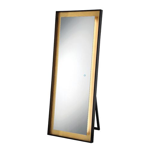 Miroir autonome à bord illuminé à DEL à feuille d'or - 33833-019