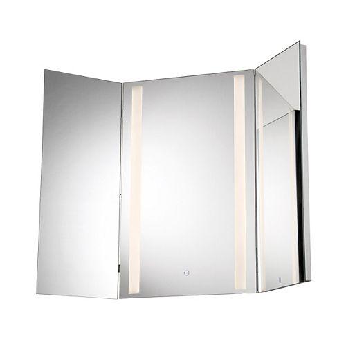 Petit miroir triptyque à DEL - 34000-014