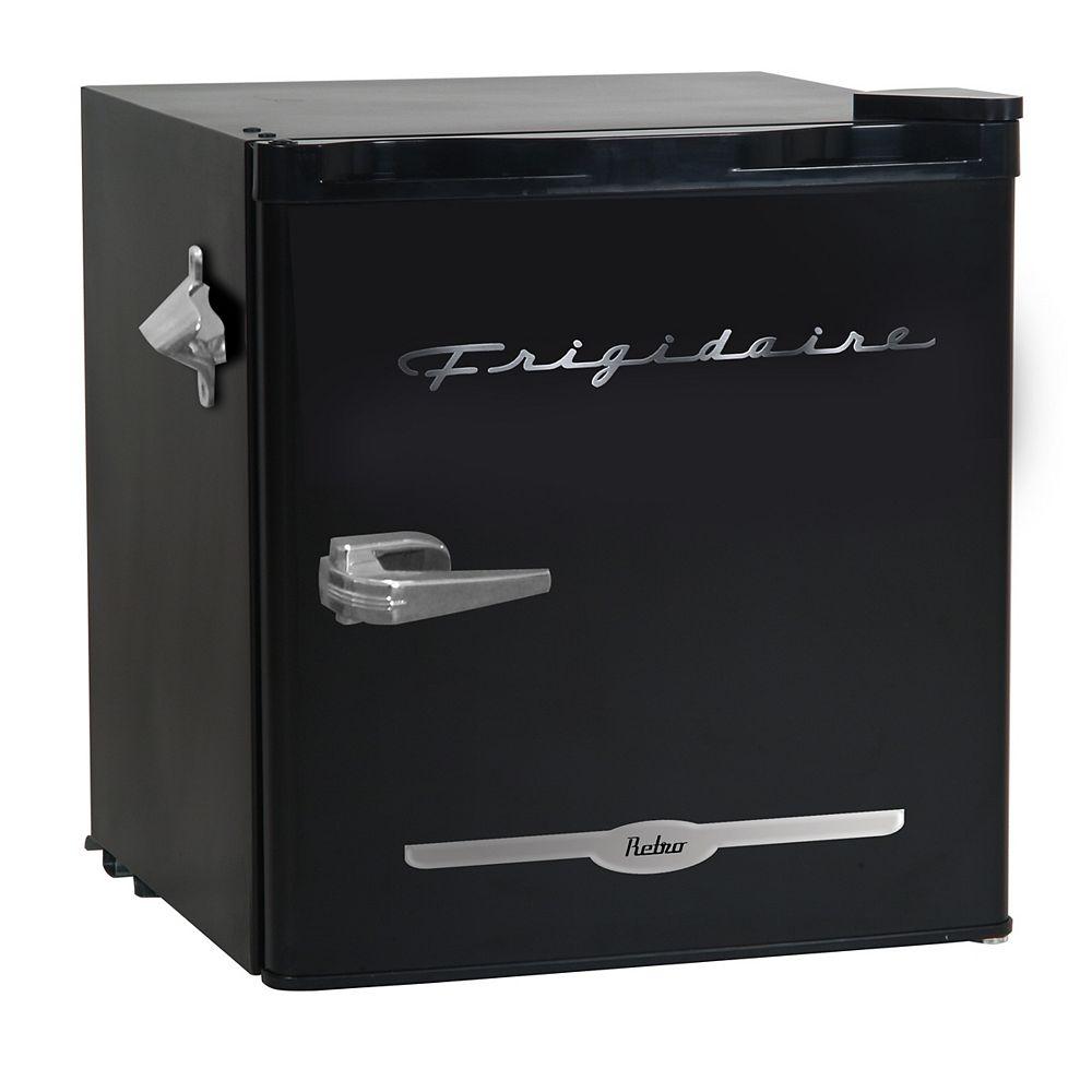 Frigidaire 1.6 cu. ft.  Retro Bar Fridge with Side Bottle Opener - Black