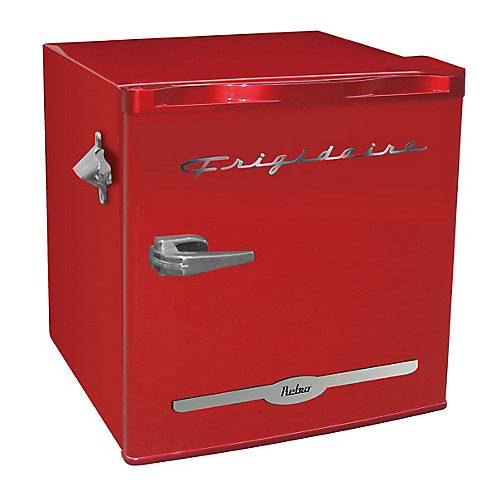 1.6 cu. ft. Retro Bar Fridge with Side Bottle Opener - Red