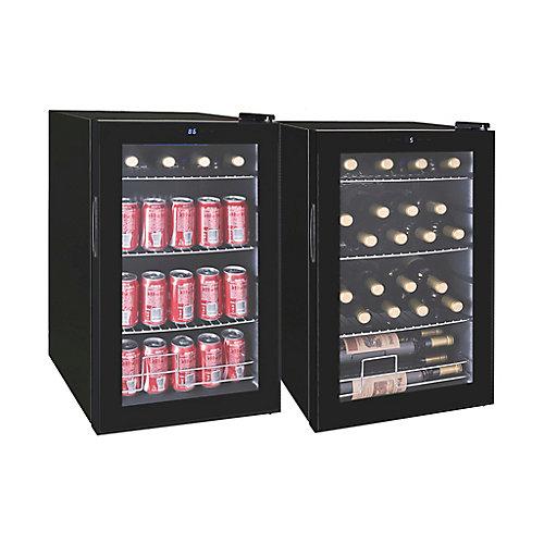 Beverage Cooler for 101 cans or 24 wine bottles - Black