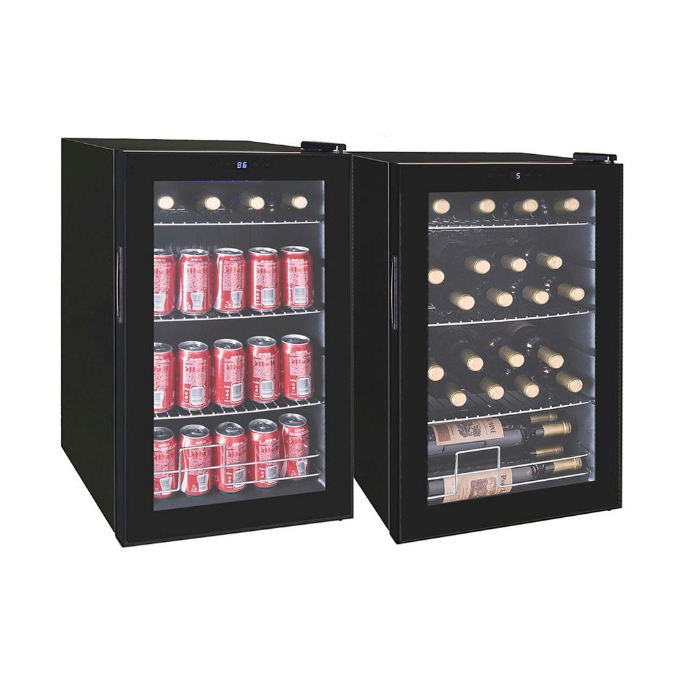RCA Refroidisseur de boissons RCA pour 101 canettes ou 24 bouteilles de vin - Noir