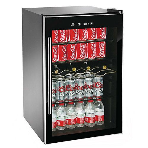 110 Can Beverage/Wine Cooler - Black