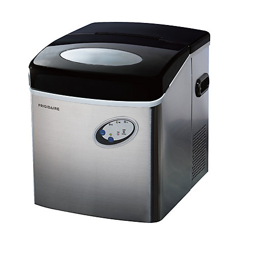 Freestanding 48lbs Compact Ice Maker - Stainless Steel