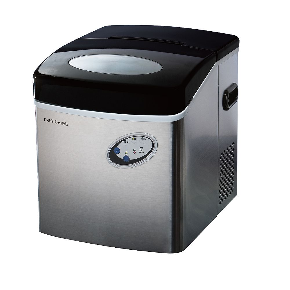 Frigidaire Freestanding 48lbs Compact Ice Maker in Stainless Steel