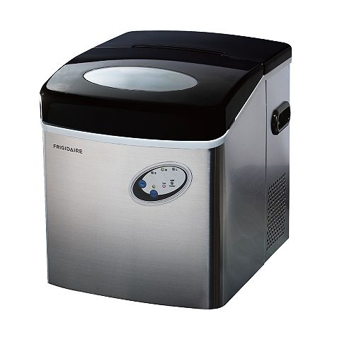 Freestanding 48lbs Compact Ice Maker in Stainless Steel
