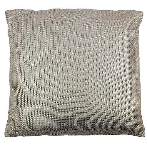 28-inch x 28-inch Gold Foil Print Floor Pillow