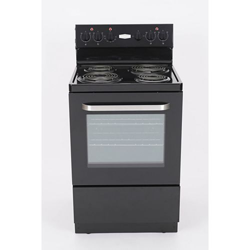 24 inch Black Electric Coil Top Range