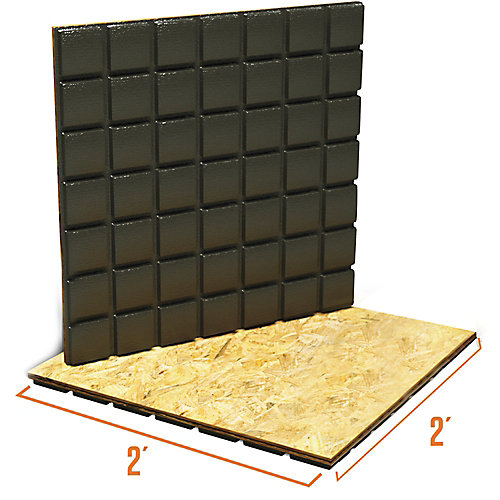 Amdry 3/4-inch x 24-inch x 24-inch Heavy Duty Low Profile Subfloor Panel (Non Insulated)