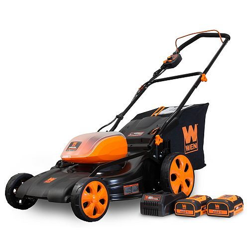 19 inch 40-Volt Max Lithium-Ion Cordless Battery 3-in-1 Push Lawn Mower with 2 Batteries and Charger