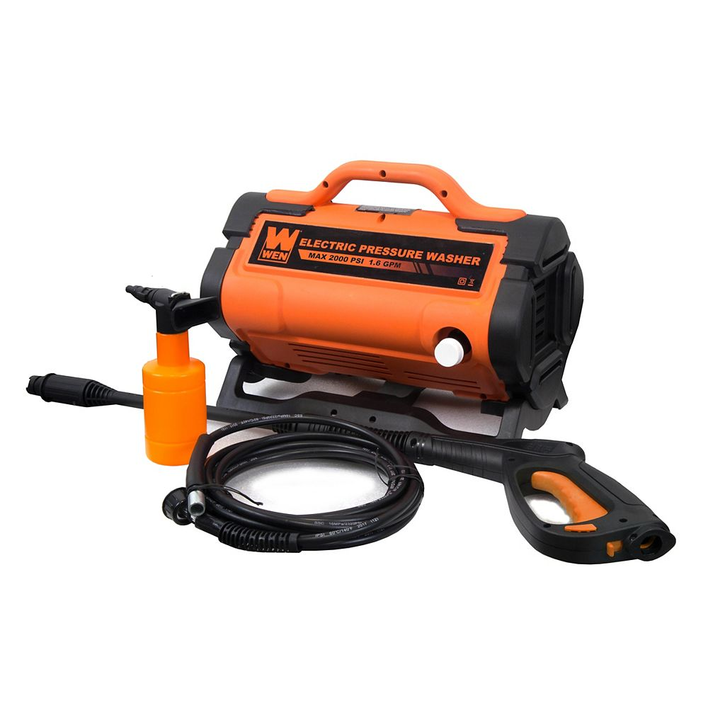 WEN 2000 PSI 1.6 GPM 13 Amp Variable Flow Electric Pressure Washer