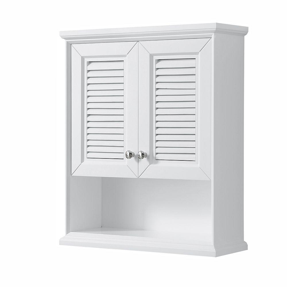 Wyndham Collection Tamara Wall-Mounted Storage Cabinet in White