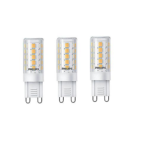 40W Equivalent Bright White (3000K) G9 Capsule LED Light Bulb (3-Pack)