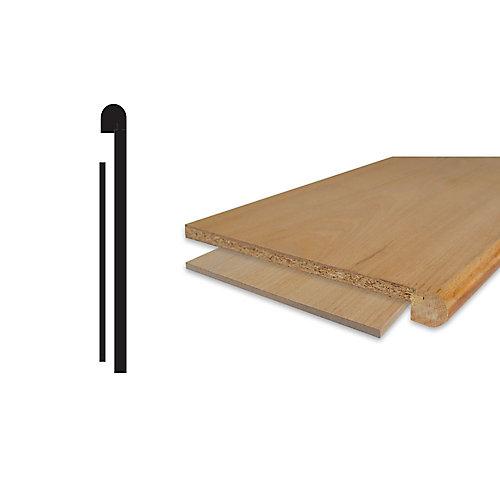 Ensemble de couvremarche et contremarche d'escalier en placage de chêne 1/2 po. X 10-1/8 po. X 42 po.