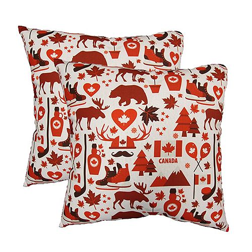 20-inch x 20-inch Canada Love Pillow (2-Pack)