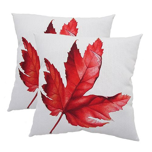 20-inch x 20-inch Fall Leaf Pillow (2-Pack)