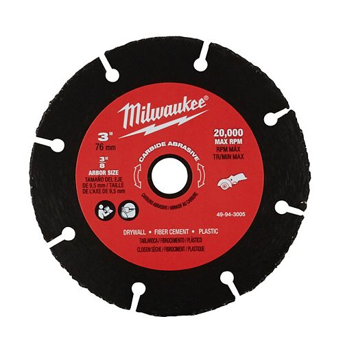 Milwaukee Tool 3-inch Carbide Abrasive Blade