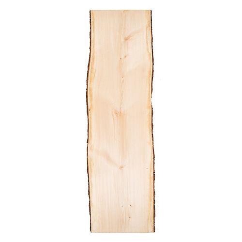 Live Edge Timber Co. Tranches de bord vivant en pin blanc, 6 pi de long x 15-19 po de largeur x 2 po d'épaisseur