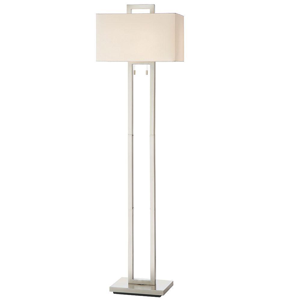 Light Floor Lamp With White Fabric