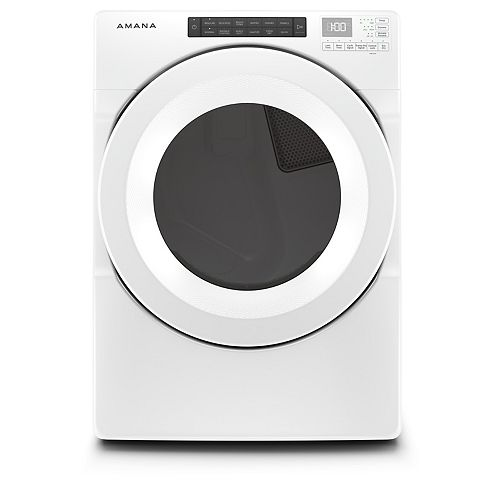 7.4 cu. ft. Front Load Electric Dryer in White