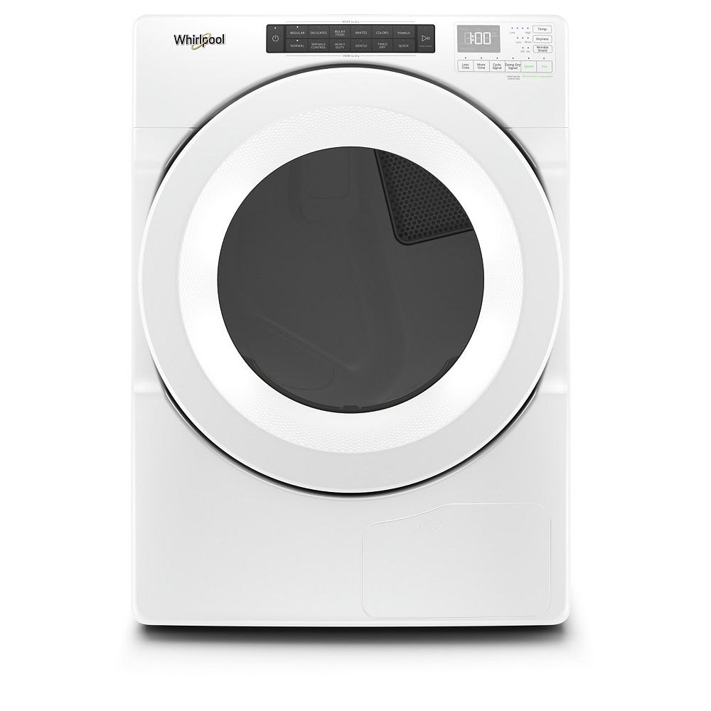 Whirlpool 7.4 cu. ft. Front Load Ventless Electric Dryer in White, Closet-Depth - ENERGY STAR®