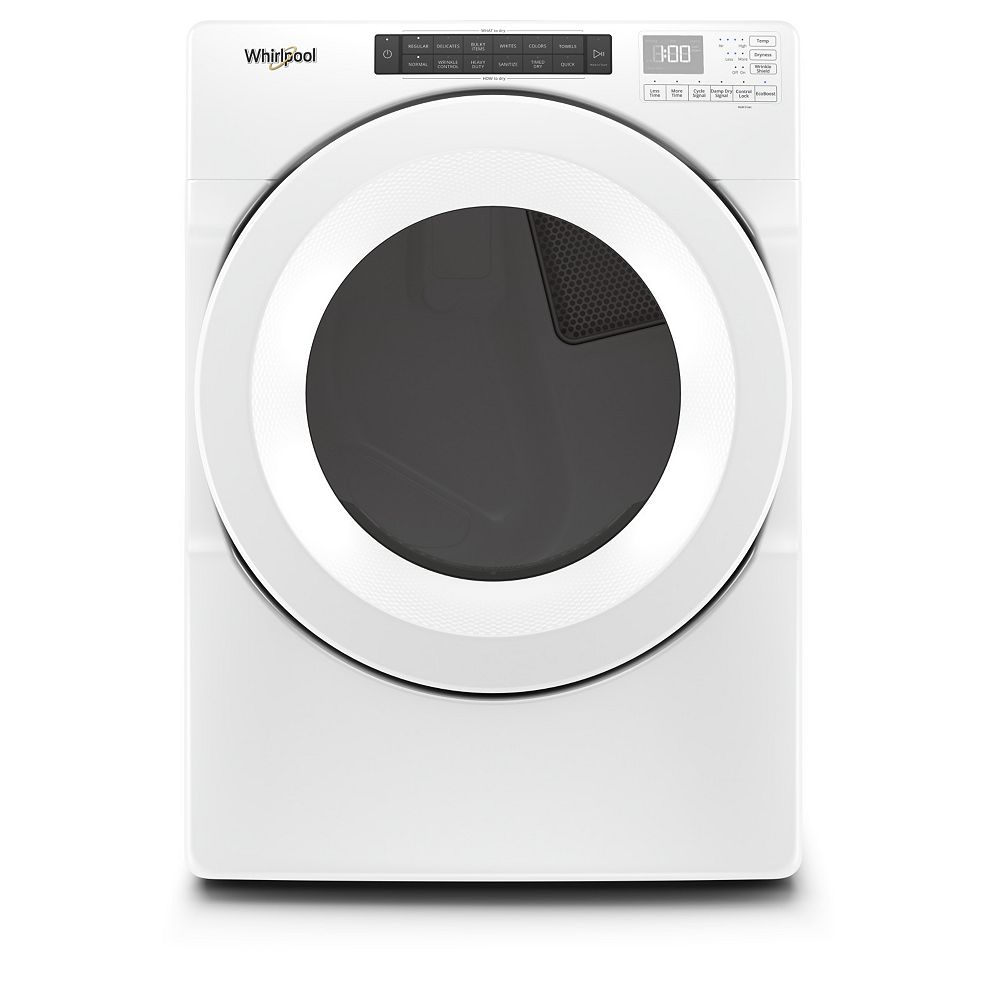 Whirlpool 7.4 cu. ft. Front Load Gas Dryer in White