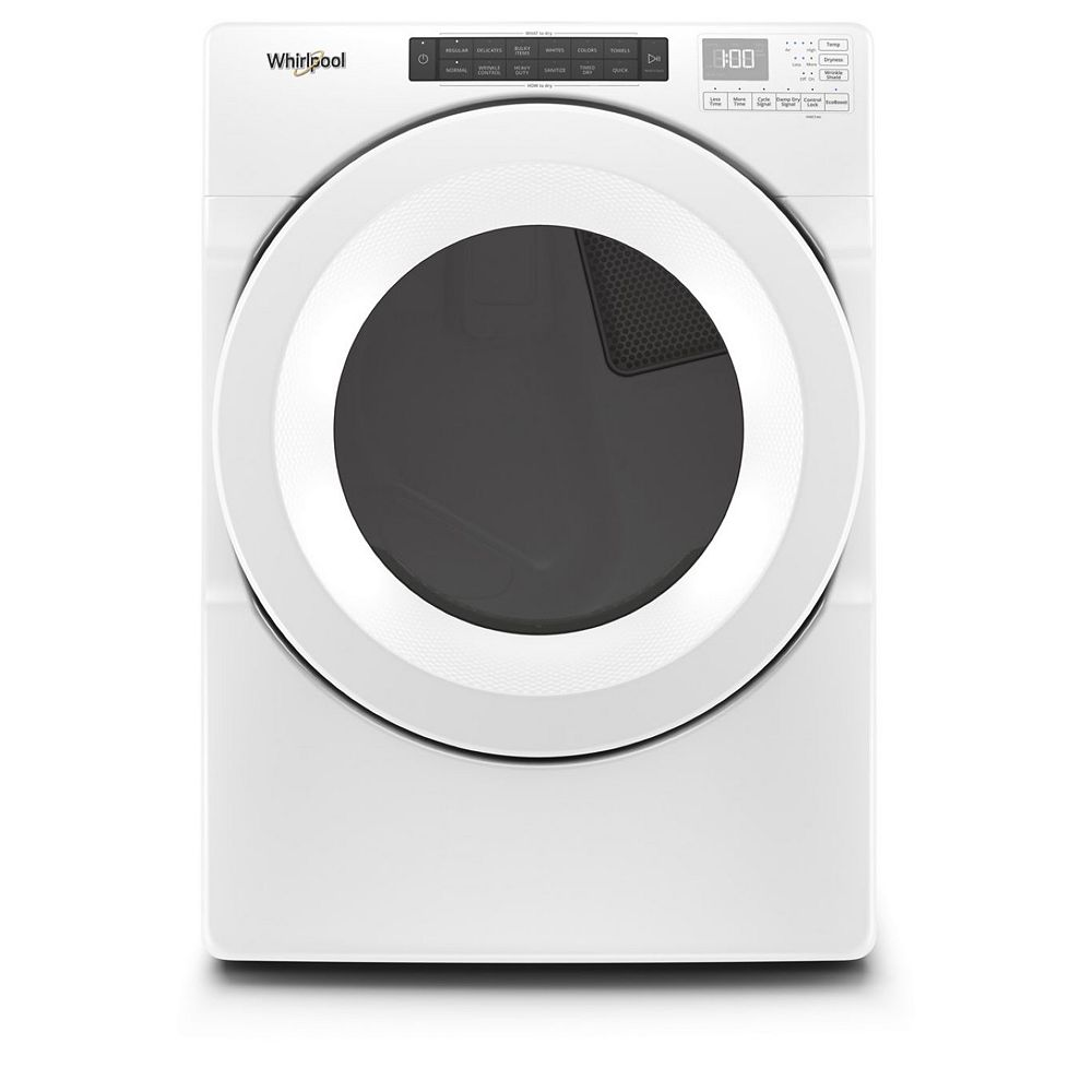 Whirlpool 7.4 cu. ft. Front Load Gas Dryer in White, Closet-Depth - ENERGY STAR®