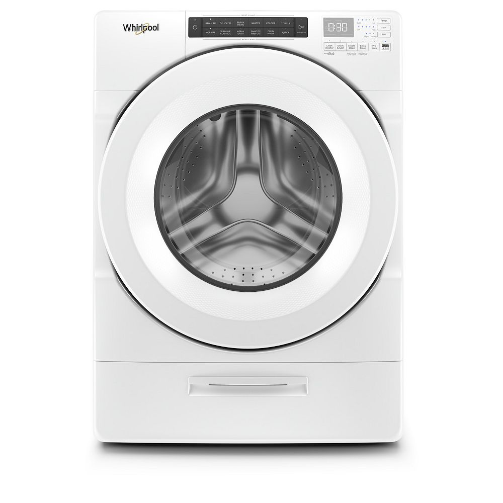 Whirlpool 5.2 cu. ft. Front Load Washer in White with Load & Go, Closet-Depth - ENERGY STAR®