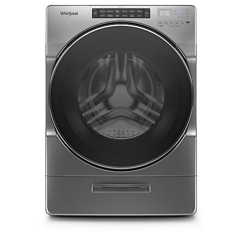 5.2 cu. ft. Front Load Washer with Load & Go XL in Chrome Shadow, Closet-Depth - ENERGY STAR®