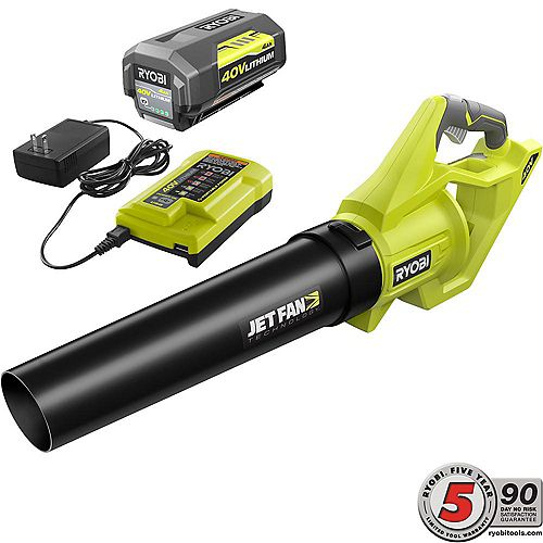40V Cordless Jet Fan Blower Kit with 4AH Battery & Charger