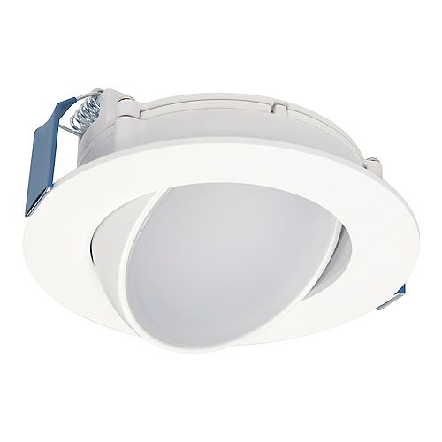 Halo Selectable Series 4-inch Gimbal Integrated LED 5-Colour (2700K to 5000K) Blade Light Fixture