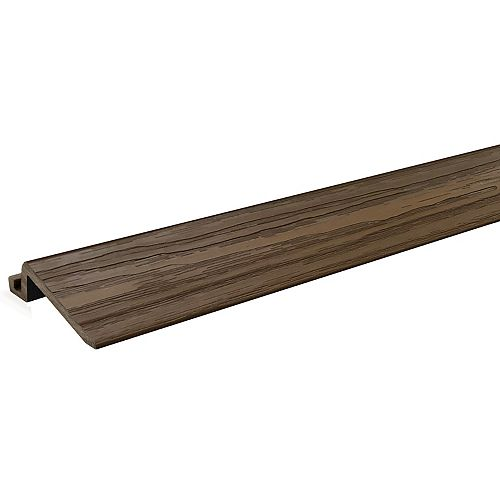 2 Ft. - Transition Strip for Deck and Balcony Tile - Walnut - (4-Pack)