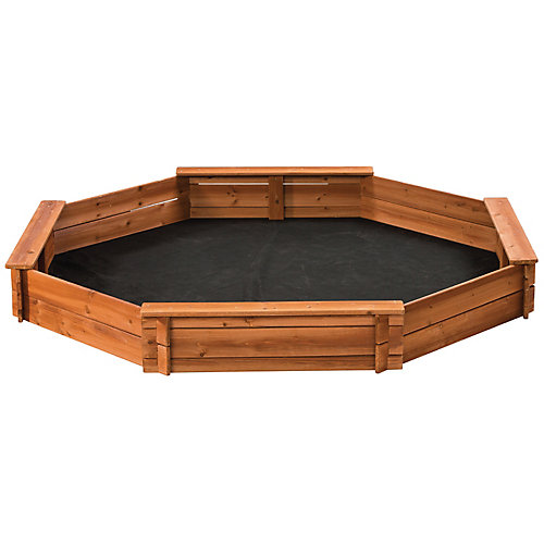 6.5 ft. x 6.5 ft. Octagonal Wooden Sandbox