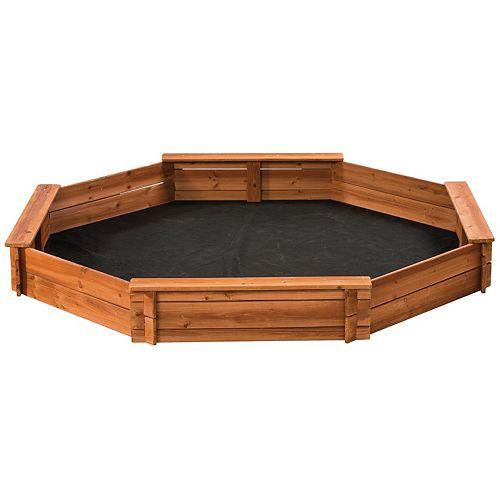6.5 ft. x 6.5 ft. Octagonal Wooden Sandbox