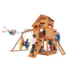Structure de jeu en bois Timber Valley- Vert