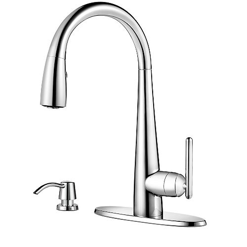 Pfister Lita Pulldown Kitchen Faucet with Xtract in Polished Chrome