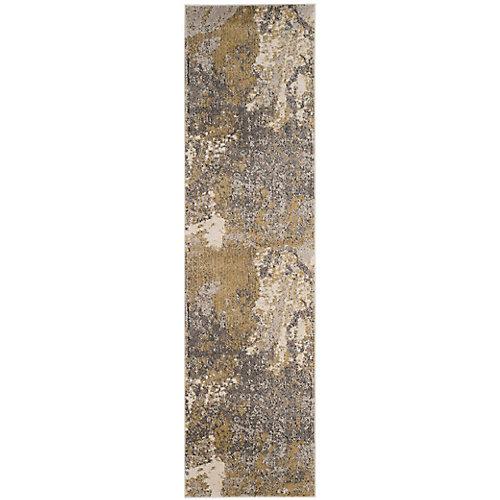 Monaco Xerxes Ivory / Grey 2 ft. 2-inch x 8 ft. Indoor Runner