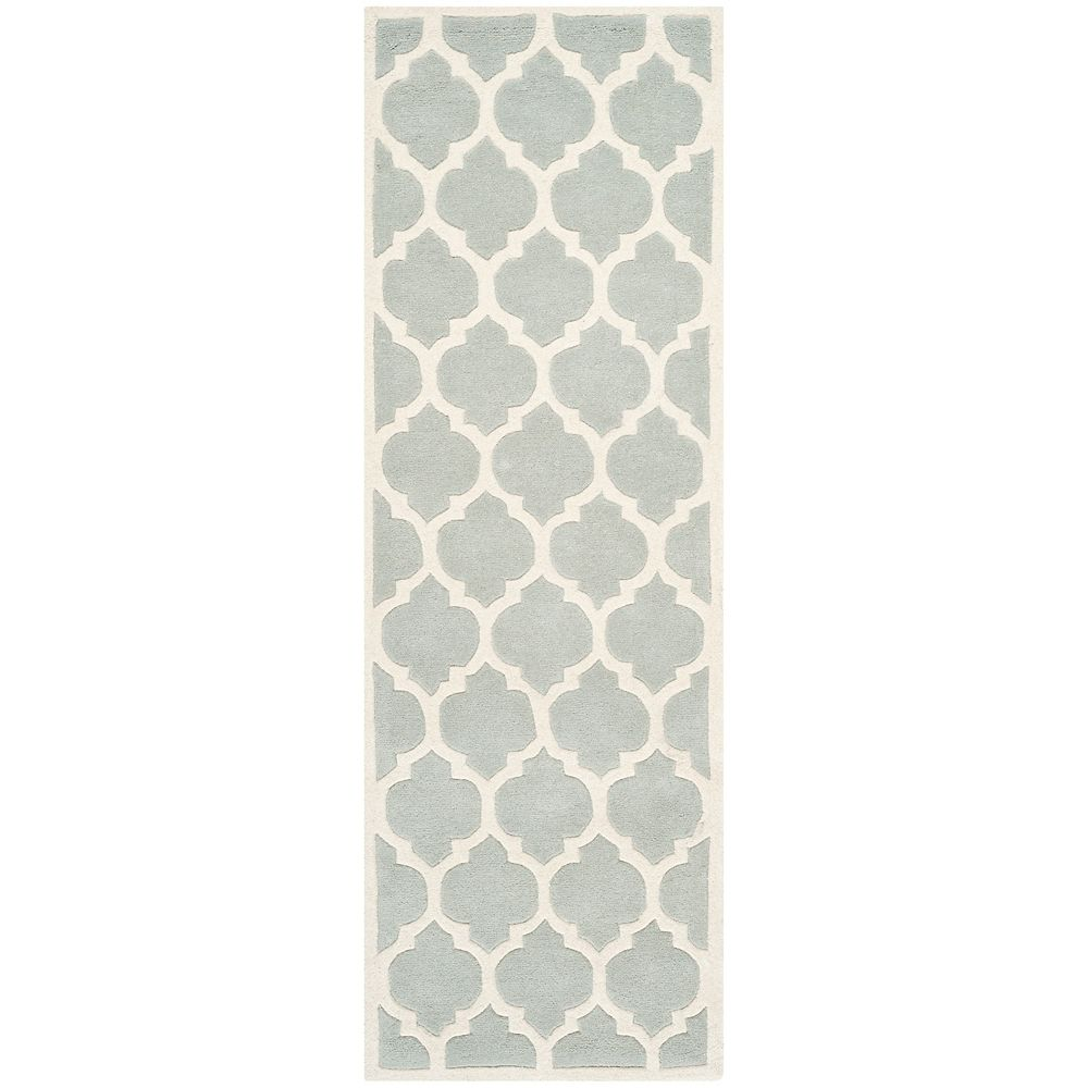 Safavieh Chatham Candace Grey / Ivory 2 ft. 3-inch x 11 ft. Indoor Runner