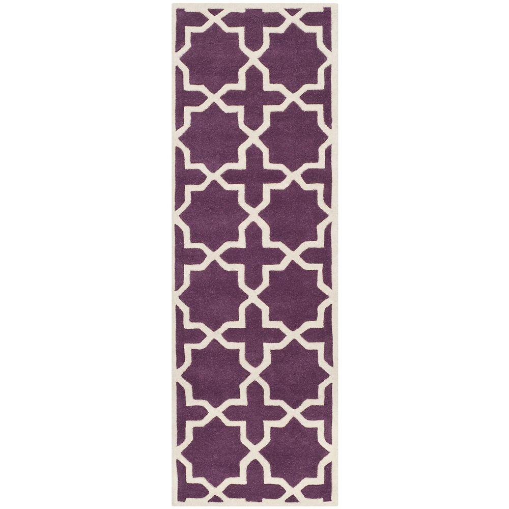 Safavieh Chatham Carlton Purple / Ivory 2 ft. 3-inch x 11 ft. Indoor Runner