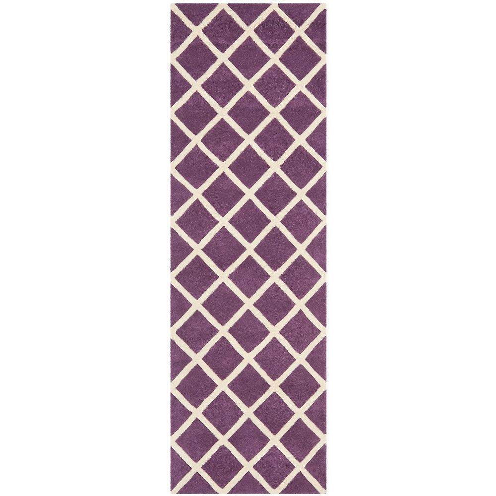 Safavieh Chatham Lily Purple / Ivory 2 ft. 3-inch x 7 ft. Indoor Runner