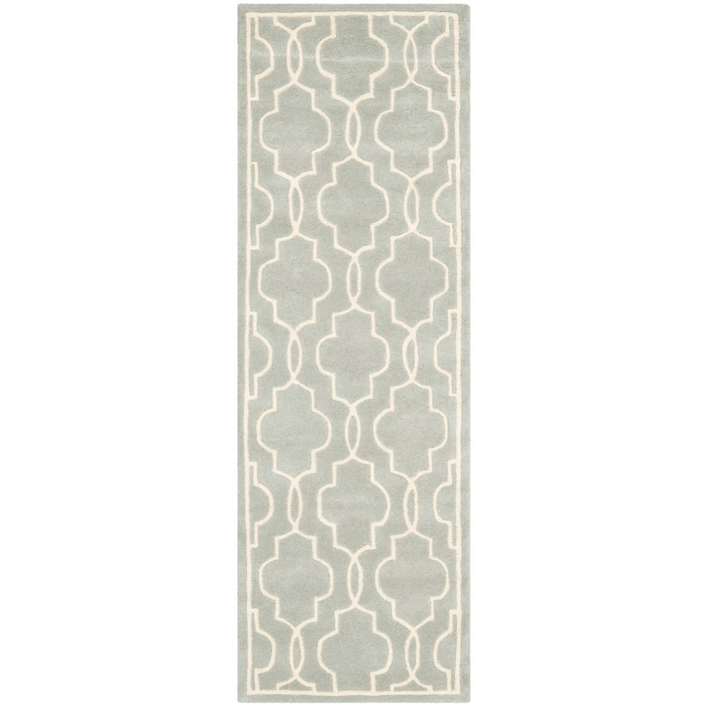 Safavieh Chatham Pascal Grey / Ivory 2 ft. 3-inch x 7 ft. Indoor Runner