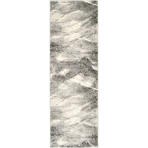 Safavieh Retro Rita Grey / Ivory 2 ft. 3-inch x 8 ft. Indoor Runner