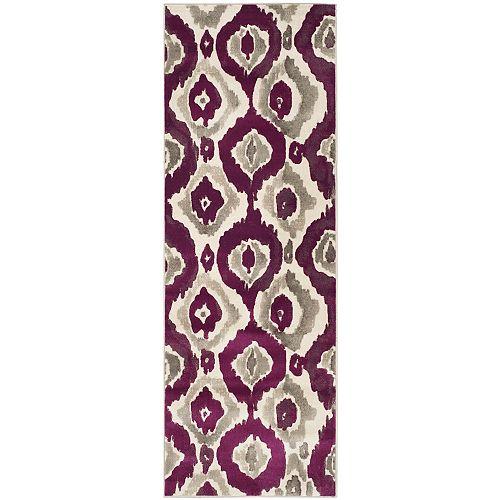 Safavieh Porcello Zander Ivory / Purple 2 ft. 4-inch x 6 ft. 7-inch Indoor Runner