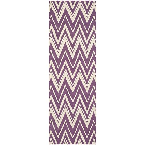 Safavieh Cambridge Chenny Purple / Ivory 2 ft. 6-inch x 8 ft. Indoor Runner